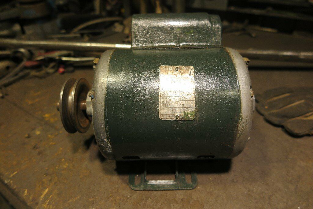 3/4HP single phase electric motor 1430rpm 240 volt
