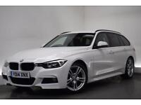 BMW 3 SERIES 2.0 320D M SPORT TOURING [SAT NAV/LEATHER] 5d AUTO (white) 2014