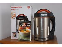 Morphy Richards Soupmaker (barely used) with recipe book