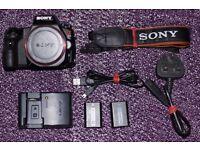 Sony a37 16.1MP DSLR Camera body + Extras