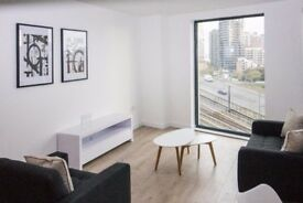** BRAND NEW LUXURY 2 BED 2 BATH APARTMENT WITH BALCONY AND GYM SHORT WALK TO CANARY WHARF, E14 - AW