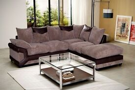 -- COMFORT GUARANTEED -- BRAND NEW DINO CORNER OR 3 AND 2 SEATER SOFA FOR SALE -- SAME DAY DELIVERY