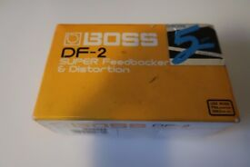 Rare guitar pedal Boss DF-2 - Distortion and Feedbacker