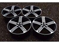 "18"" VW Golf Cadiz Style Alloy Wheels Mk5 Mk6 MK7 GTI Audi A3 2nd Gen Brand New Boxed Black Polished"