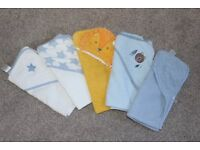 5x baby hooded towels