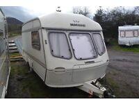 1989 lunar clubman 390/2 full awning,hot/cold water , cassette toilt caravan