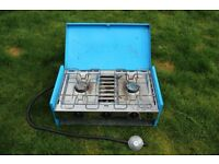 Camping two burner stove