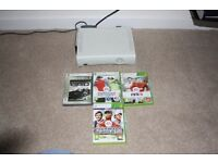 Xbox 360, 3 controllers, & games - guaranteed to work as picture show, + wireless network adapter