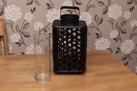 Black Wooden Woven Lantern New!