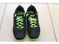 DEK Trainers - Green & Black, almost never worn, as new.
