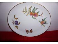 Royal Worcester Evesham Gold 15 inch oval serving plate