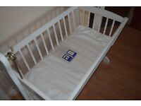 Wooden Baby White Cradle for sale...!!!