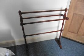Wooden Towel Rail early 20th century