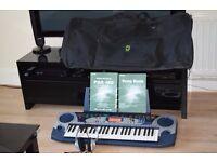 YAMAHA PSR-160 KEYBOARD MUSIC HOLDER/CARRY CASE/POWER/MANUEL S/BOOK