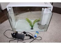 Aqua home 60 litre fish tank with light, filter and heater