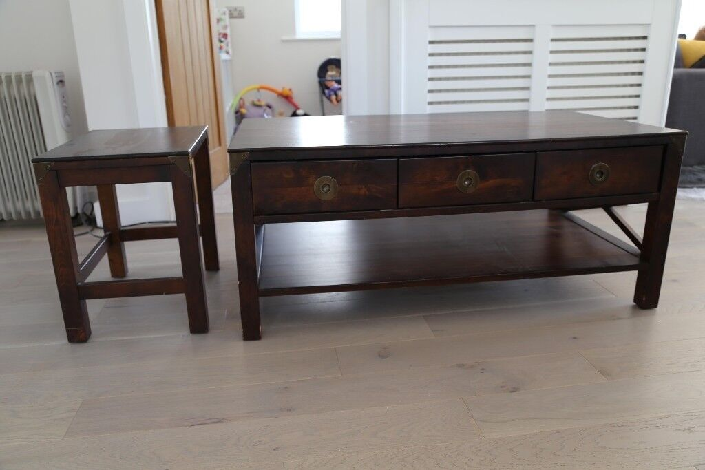 Balmoral Laura Ashley Solid Teak Wood Coffee And Side Table In Poole Dorset Gumtree