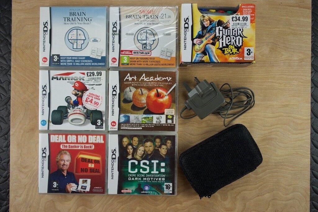 Nintendo DS black +8 games