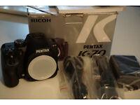 Pentax K70 24.2MP Digital SLR Camera - Black (Body Only)