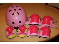 Pink Oxelo Cycle/Skate Helmet and Protectors