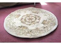 """Cream circular rug 55"""" diameter"""