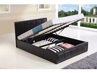 House Clearance! OTTOMAN STORAGE DOUBLE & KING SIZE LEATHER BED MEMORY FOAM MATTRESS, SOFA BED