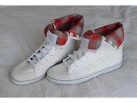 Size 7 - Adidas White & Red High Tops