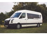 VW CRAFTER CAMPER DAY / RACE VAN , 4 BERTH , PX TRANSPORTER T5