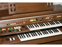Yamaha Electone Electric Organ, two keyboards, good condition. Stool included.