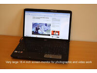 Acer Aspire 8935G 18.4 inch screen Laptop / Notebook, ideal for Photographic or Video work