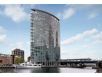 STUNNING AND SPACIOUS 3 BEDROOM FLAT WITH FITTED KITCHEN IN NO 1 WEST INDIA QUAY,CANARY WHARF,LONDON