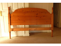 King size pine bedframe and mattress