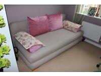 fabric sofa bed beige