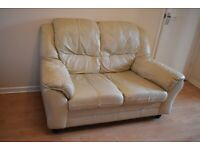 2 seater sofa & footstool with storage, good condition.