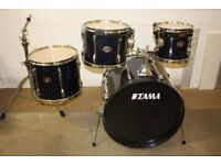 Tama Rockstar Midnight Blue ~ 4 Piece Drum Kit Shell Pack ( 22in Bass ) Drums Only