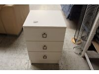 Small white chest of drawers (from Cambridge Re-use, a Charity Organisation)