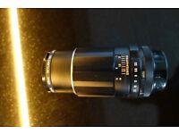 Vintage camera lens - 135mm Super-takumar lens f3.5 screw mount / Hoya 49mm Skylight