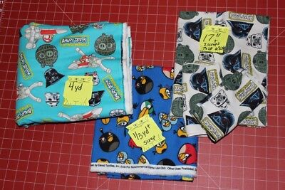 ANGRY BIRDS FLANNEL ASSORTED FABRICS  ANGRY BIRDS STAR WARS
