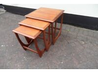 G Plan Astro Fresco Vintage Retro Teak Nest Tables Side Coffee Table 1960's teak Mid Century Modern