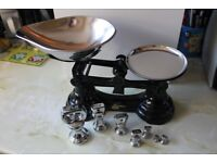 A Wonderful vintage style set of scale's and weights