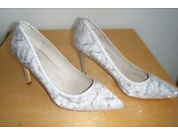 ONLY WORN ONCE - LADIES size 7 stiletto high heel shoes from DEBUT, for DEBENHAMS