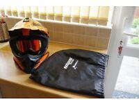 Nolan N53 MotoX Helmet and Smiths FuelV2 Goggles (Red Iridium Lens)