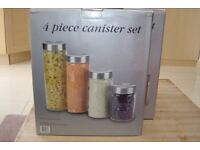 Glass Canisters - 4 Piece Set x 4 Sets