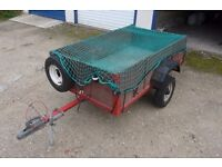 Box trailer, camping trailer, 5ft x 3ft, drop tailgate,