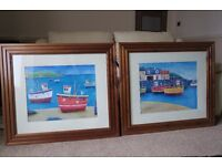 Framed Prints Fishing Harbour Scenes