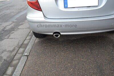Chrom Mercedes W169 A-Klasse Auspuffblende Baujahr 2005 > 2012 EDELSTAHL