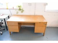 Solid Wooden Desk with built in drawers