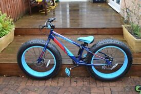 "Fat bike, Sonic, 20"", only used twice, emaculite, condition. bought for £300 12 months ago."