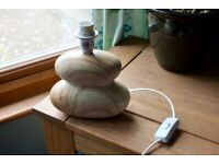 Pebble Lamp Base with Wooden Finish from The Range