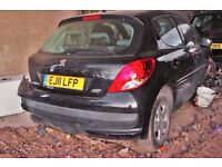 Peugeot 207 Black colour, 5 doors, 2011 year, Breaking and selling for parts
