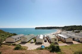 Stunning sea view lodge pitch available at Lydstep nr Tenby